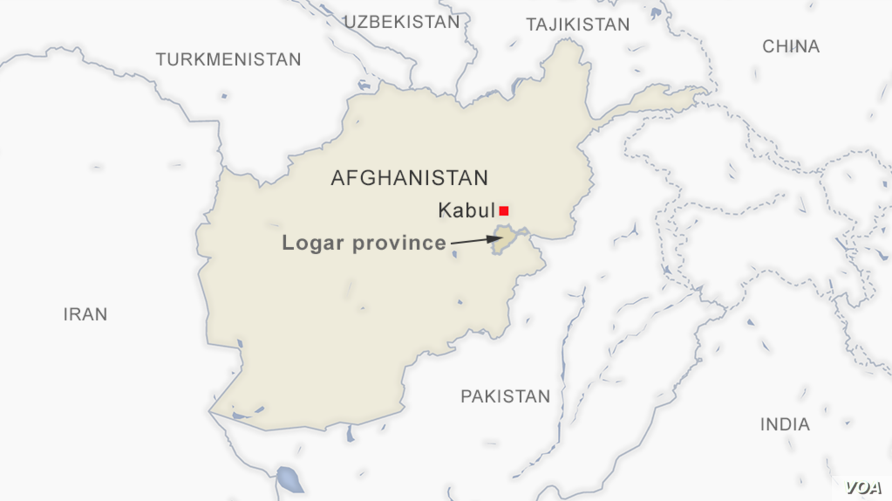 Map of Logar province, Afghanistan