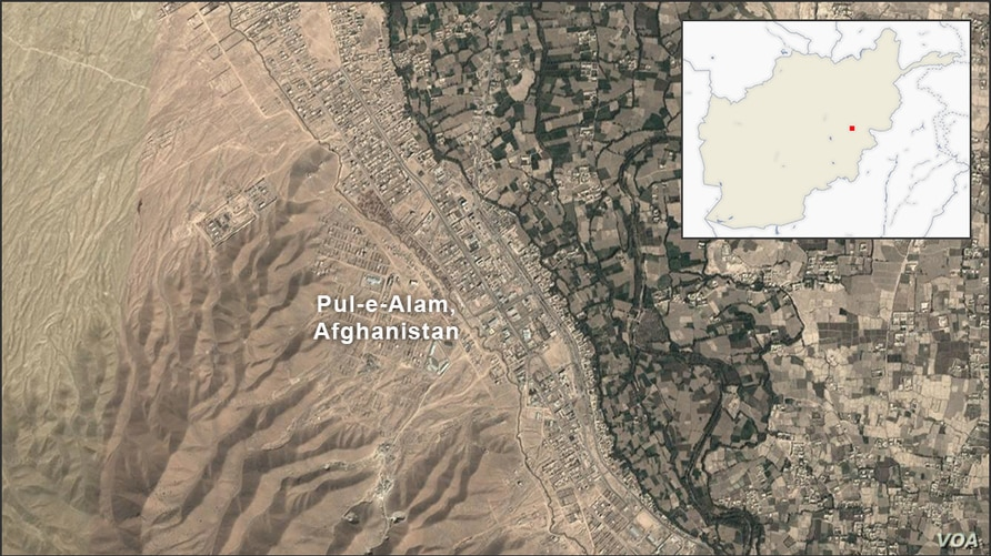 Map of Pul-e-Alam Afghanistan