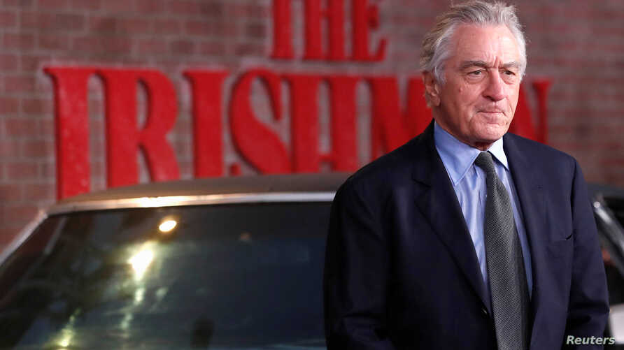 """Producer and cast member Robert De Niro arrives for the premiere of film """"The Irishman"""", in Los Angeles, California, U.S…"""