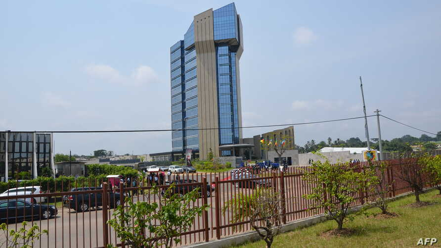 FILE - A photo shows the headquarters building of the Economic and Monetary Community of Central African States (CEMAC), in Libreville, Gabon, June 12, 2013.