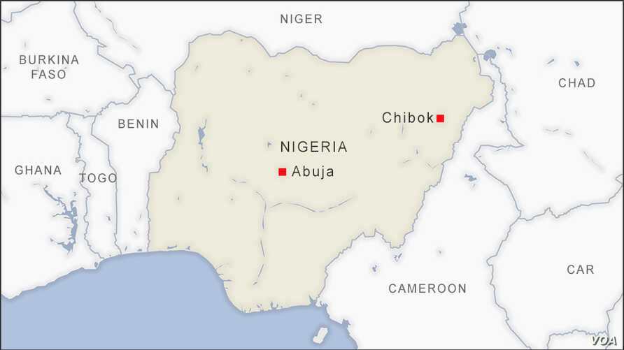Map of Chibok Nigeria