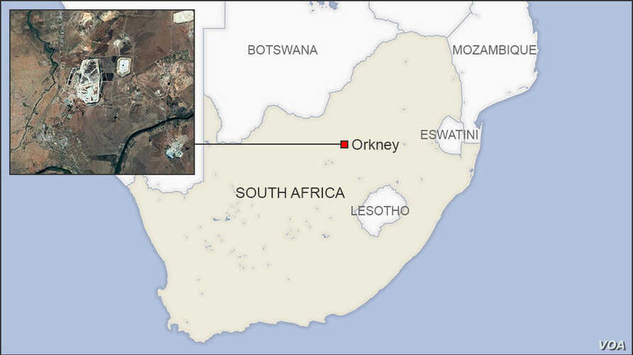Map of Orkney South Africa