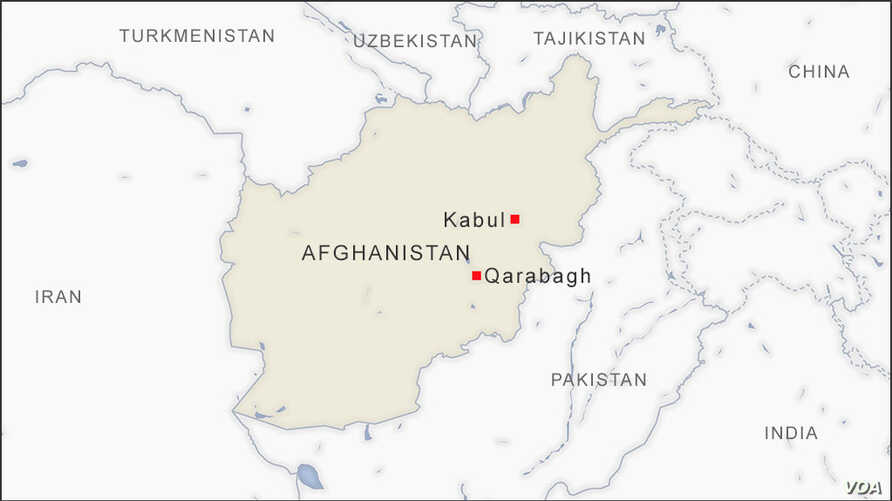 Map of Qarabagh Afghanistan