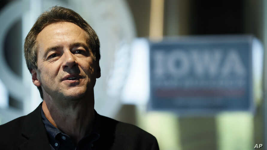 Democratic presidential candidate Montana Gov. Steve Bullock speaks during a meet and greet, Sept. 12, 2019, in Clive, Iowa.