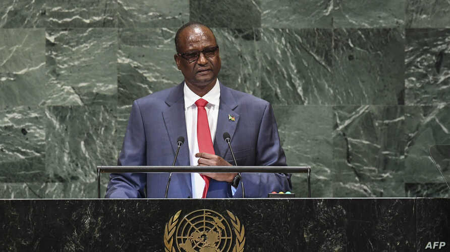 South Sudan's First Vice President Taban Deng Gai speaks during the General Debate of the 73rd session of the General Assembly…