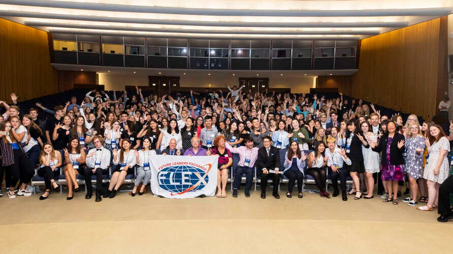 On June 4, 2019, 215 FLEX students from 10 countries gather at the Department of State the day before returning to their home countries.