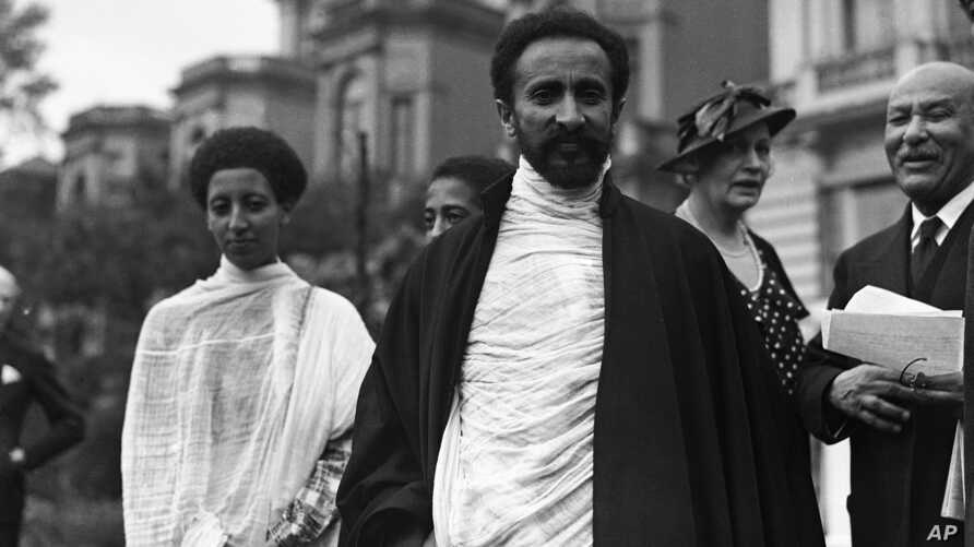 Princess Tsahia, Princess Tsehai Haile Selassie, left, with her father Haile Selassie I exiled Emperor of Abyssinia, Emperor of…