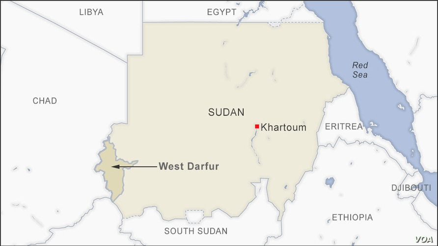 West Darfur, Sudan map