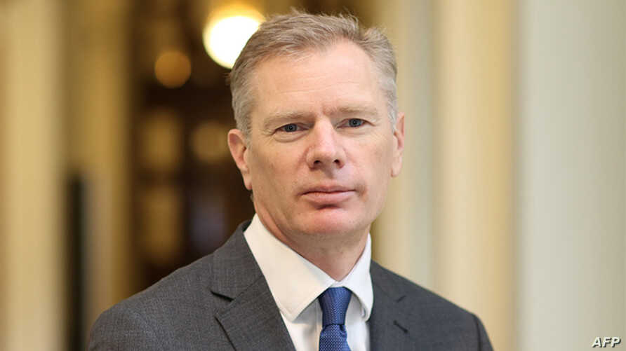 An undated handout picture released by Britain's Foreign and Commonwealth Office in London, Jan. 13, 2020, shows the country's Ambassador to Iran, Rob Macaire.