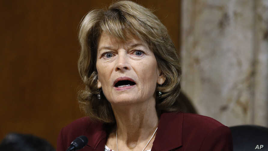 FILE - Sen. Lisa Murkowski, R-Alaska, chair of the Senate Energy and Natural Resources Committee, speaks during a hearing on the impact of wildfires on electric grid reliability on Capitol Hill in Washington, Dec. 19, 2019.