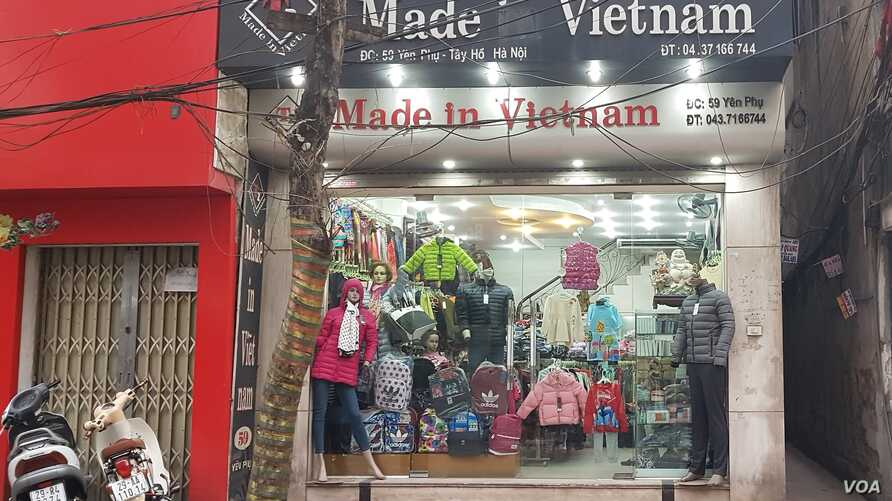 """U.S. tariffs on Chinese goods have motivated companies to seek """"Made in Vietnam"""" labels to avoid tariffs. (VOA)"""