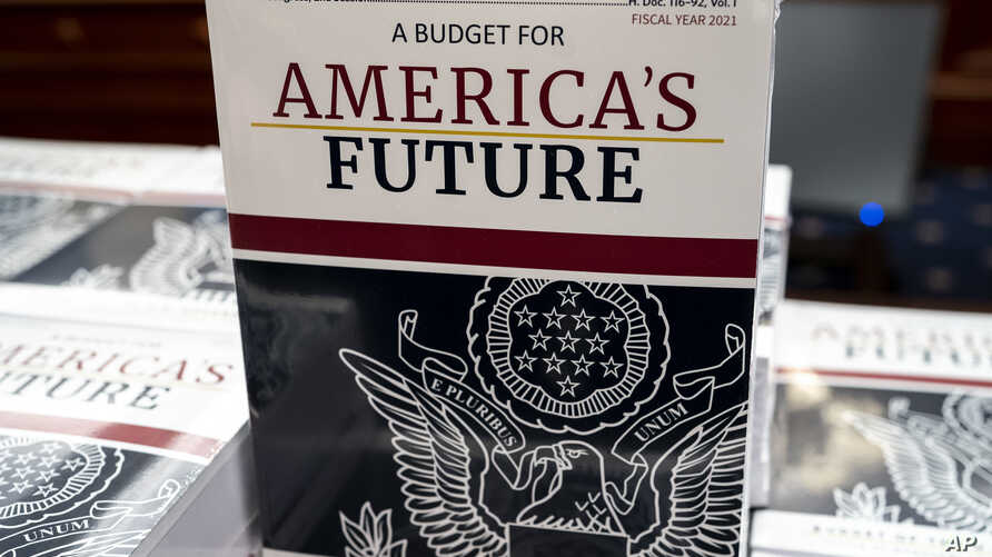 President Donald Trump's budget request for fiscal year 2021 arrives at the House Budget Committee on Capitol Hill in…