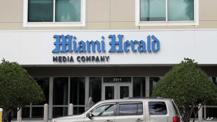 The Miami Herald newspaper office building is shown, Thursday, Feb. 13, 2020, in Doral, Fla. McClatchy, the publisher of the Miami Herald, The Kansas City Star and dozens of other newspapers nationwide, is filing for bankruptcy protection.