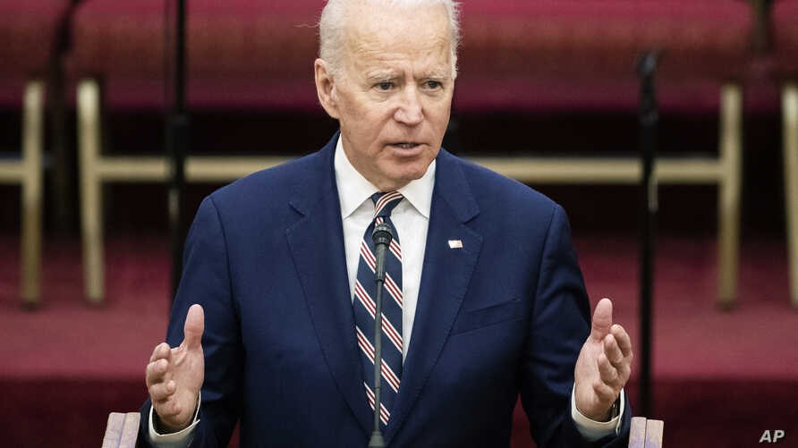 Democratic presidential candidate former Vice President Joe Biden speaks during services, Sunday, Feb. 23, 2020, at the Royal…