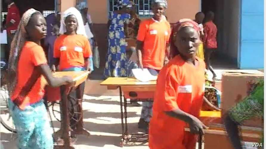 Victims of Boko Haram Receive training and Sewing Machines from the International NGO Plan International. Minawao.