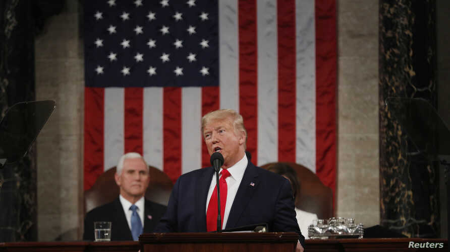 U.S. President Donald Trump delivers his State of the Union address to a joint session of the U.S. Congress in the House…