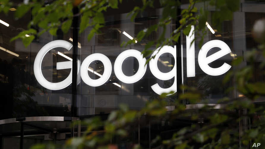FILE - A Google logo is seen at the company's offices in Granary Square, London, Nov. 1, 2018.