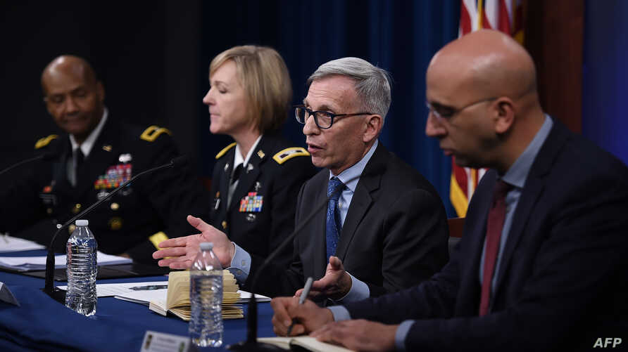 (From L to R) Brigadier General Michael J. Talley, Commanding General at US Army Medical Research and Development Command and…