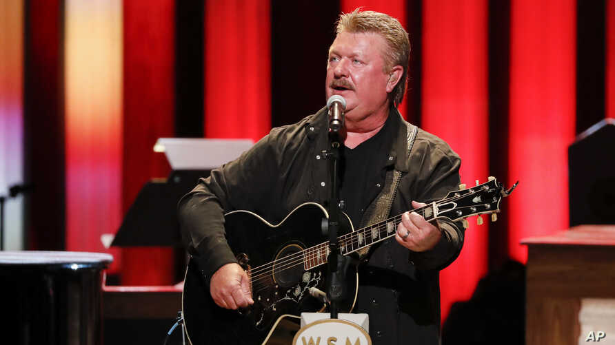 """Joe Diffie performs at """"Luke Combs Joins the Grand Ole Opry Family"""" at Grand Ole Opry on Tuesday, July 16, 2019 in Nashville, Tenn."""