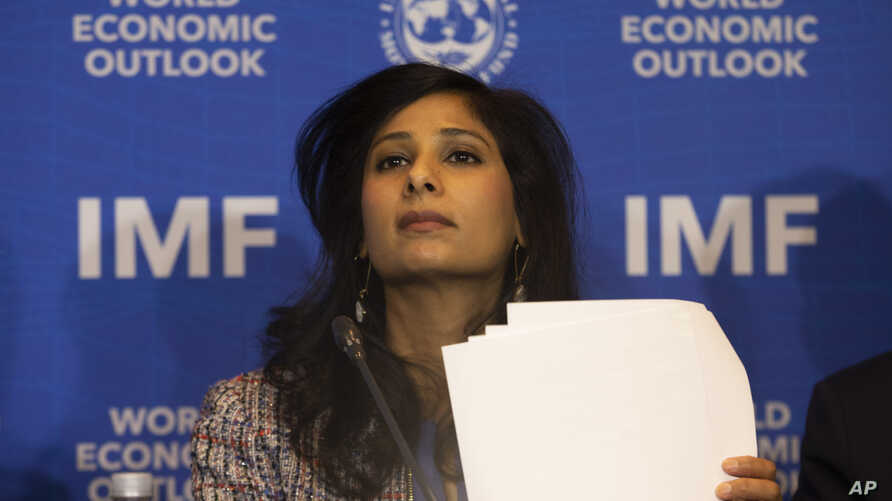 FILE - International Monetary Fund Chief Economist and Director of the Research Department Gita Gopinath.