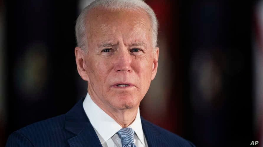 Democratic presidential candidate former Vice President Joe Biden speaks to members of the press at the National Constitution Center in Philadelphia, March 10, 2020.
