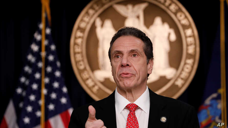 New York Governor Andrew Cuomo delivers remarks at a news conference regarding the first confirmed case of coronavirus in New…