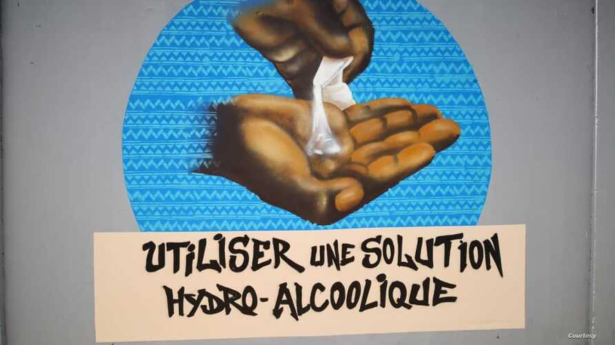 In response to the coronavirus outbreak, Senegalese graffiti collective RBS has created murals across Dakar to encourage residents to practice good hygiene.