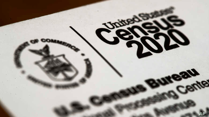 FILE - A March 19, 2020, photo shows an envelope containing a 2020 Census letter mailed to a U.S. resident in Glenside, Pennsylvania.