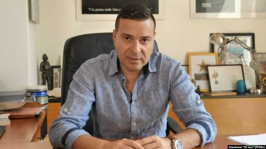 Undated photo of the Bulgarian investigative journalist Slavi Angelov who was attacked by unidentified assailants near his home in Sofia, March 18, 2020. (RFE/RL)