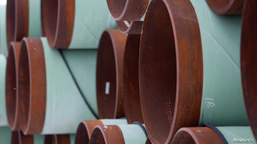A depot used to store pipes for Transcanada Corp's planned Keystone XL oil pipeline is seen in Gascoyne, North Dakota, January…