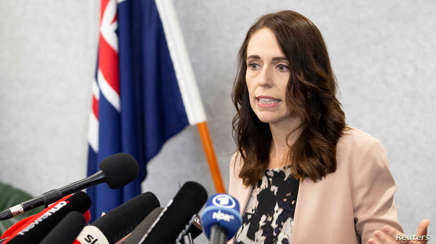 New Zealand Prime Minister Jacinda Ardern during a news conference prior to the anniversary of the mosque attacks that took…