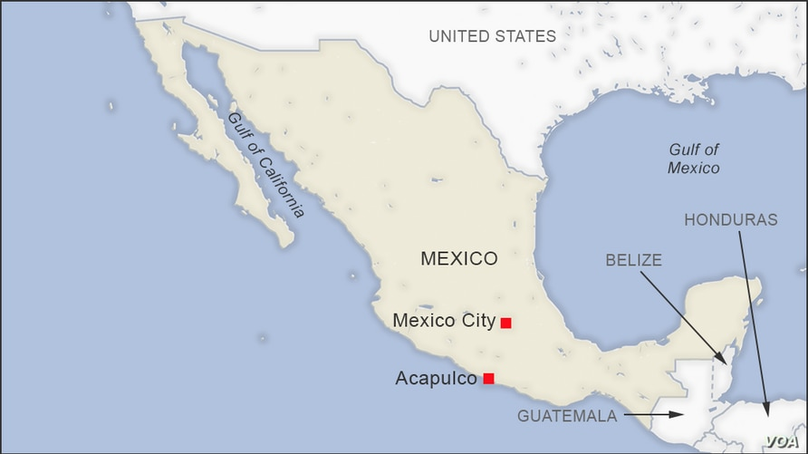 Map of Acapulco Mexico