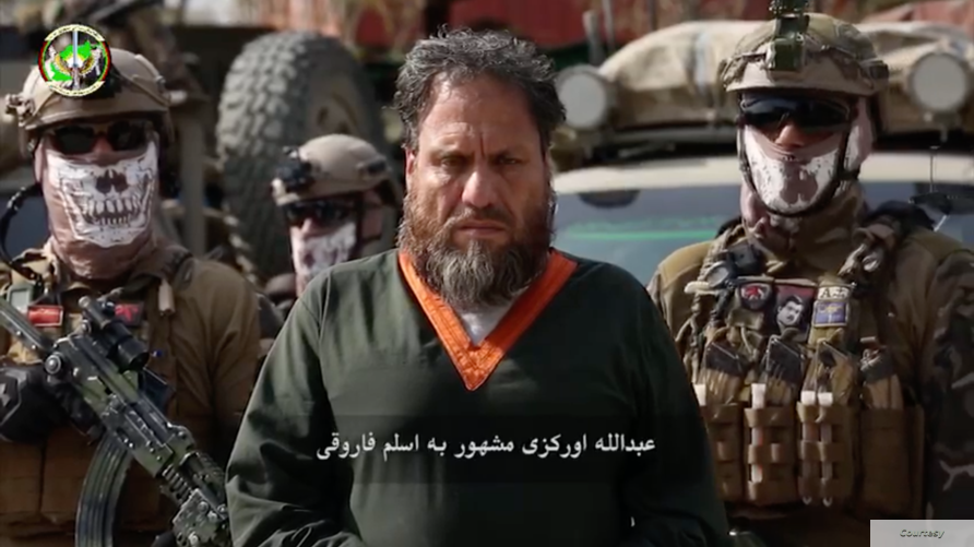 Afghan spy agency NDS released images of Abdullah Orakzai, a Pakistani national also known as Aslam Farooqi, the regional chief of Islamic State (courtesy NDS)