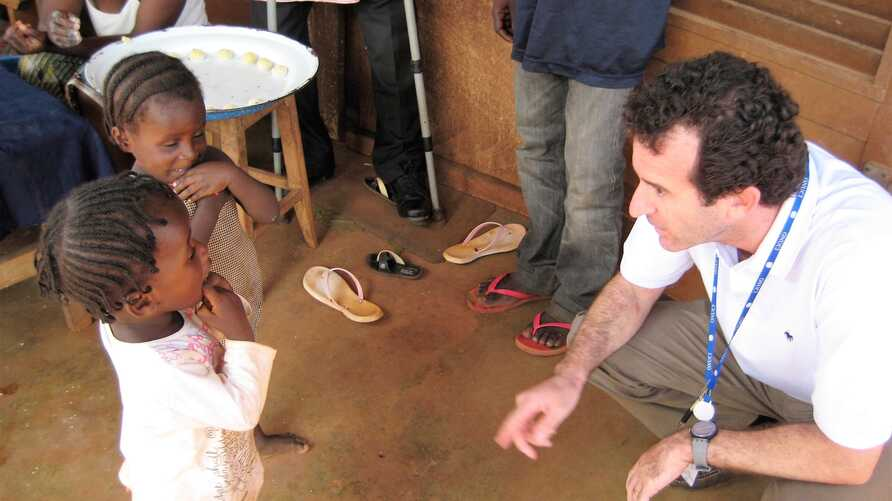 FILE - Epidemiologist Paul Spiegel was working with the UN Refugee Agency when he visited a refugee camp in Cameroon in 2014. (UNHCR)