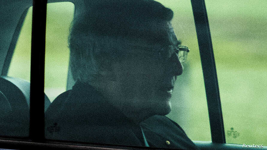 Cardinal George Pell leaves HM Prison Barwon in Geelong, Australia, April 7, 2020.