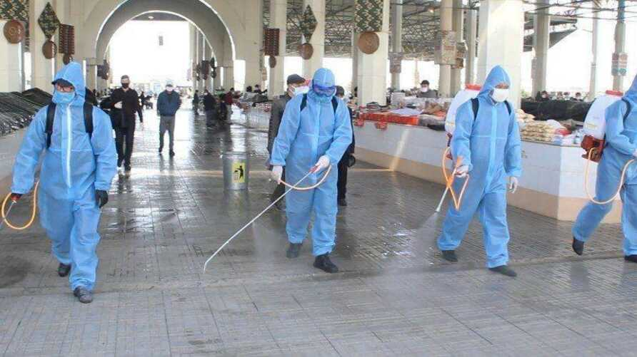 Food markets in Uzbekistan remain open but are disinfected on a regular basis. (Koronavirusinfouz)