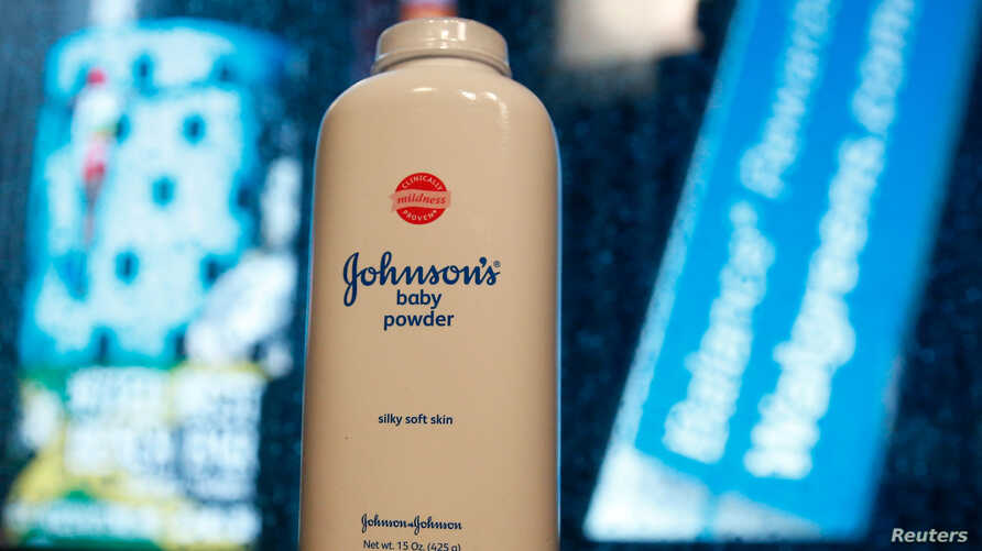 FILE PHOTO: A bottle of Johnson and Johnson Baby Powder is seen in a photo illustration taken in New York, February 24, 2016…