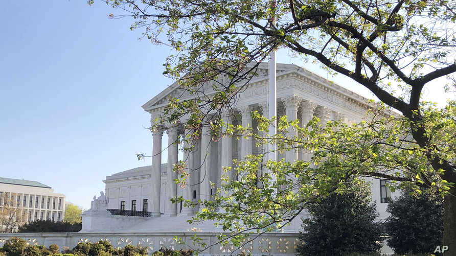 The Supreme Court is shown, Monday, April 6, 2020 in Washington. The Supreme Court on Monday rejected an appeal from the…