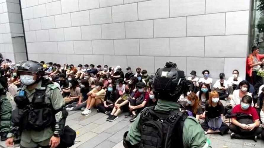 Hong Kong police arrested dozens of protesters on May 27, 2020. (Photo courtesy of Hong Kong Police Facebook)