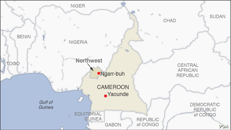 Map of Ngarr-buh Cameroon