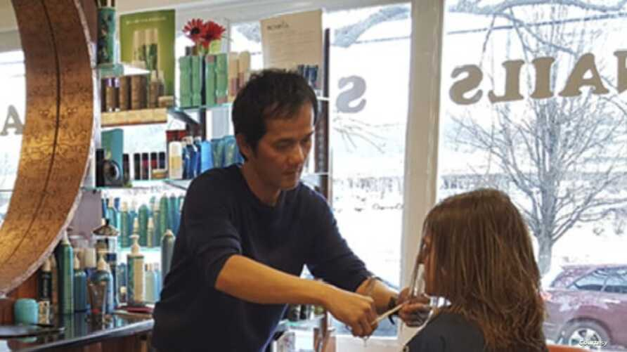 Divo Le, a Vietnamese immigrant who owns Divo Hair Salon in Alexandria, Virginia is seeing his American Dream threatened.