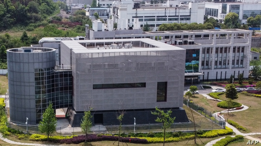 FILE - An aerial view shows the P4 laboratory of the Wuhan Institute of Virology, in Wuhan, China, April 17, 2020.