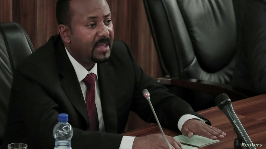 FILE PHOTO: EthiopiaÕs Prime Minister Abiy Ahmed addresses the legislators on the current situation of the country inside the…