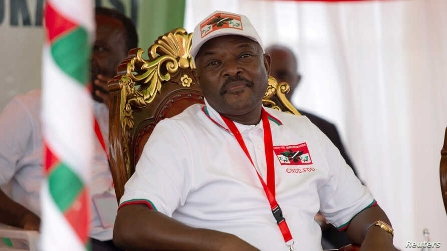 FILE PHOTO: Burundi's President Pierre Nkurunziza attends the National Council for the Defense of Democracy-Forces for the…