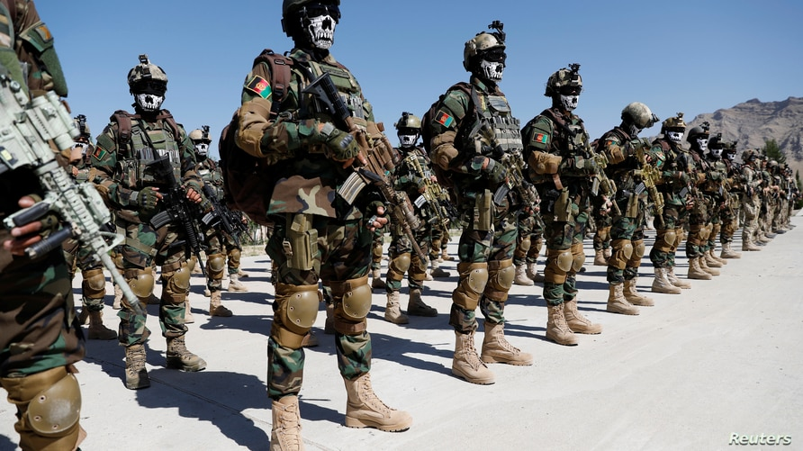 Afghan Special Forces attend their graduation ceremony in Kabul, ?fghanistan June 17, 2020. REUTERS/Mohammad Ismail