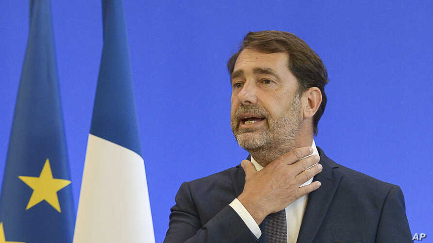 French Interior Minister Christophe Castaner, gestures during a media conference in Paris, Monday, June 8, 2020. French…