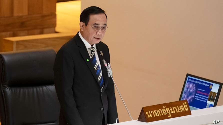 Thailand Prime Minister Prayuth Chan-ochaanswers questions during an open session at the parliament house in Bangkok, May 27, 2020.