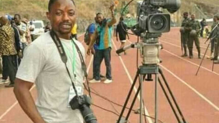 Cameroonian journalist Samuel Wazizi is seen in an undated photo from social media.