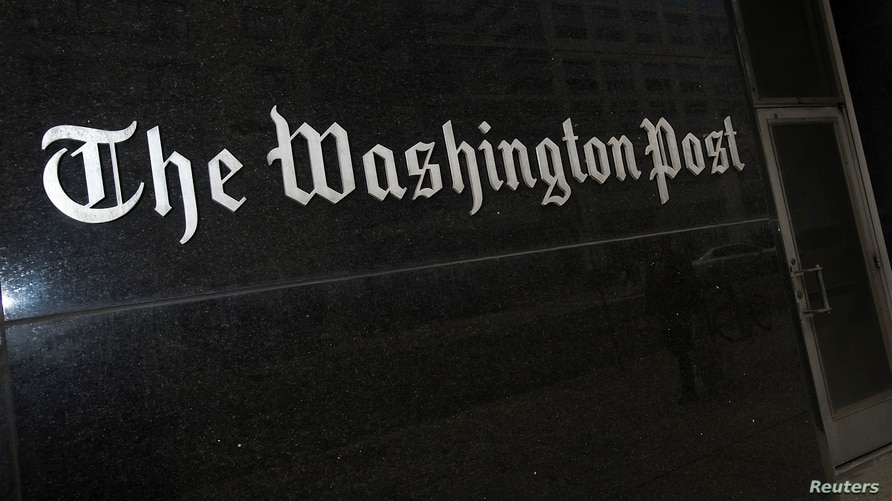 A general view of the exterior of The Washington Post Company headquarters in Washington.