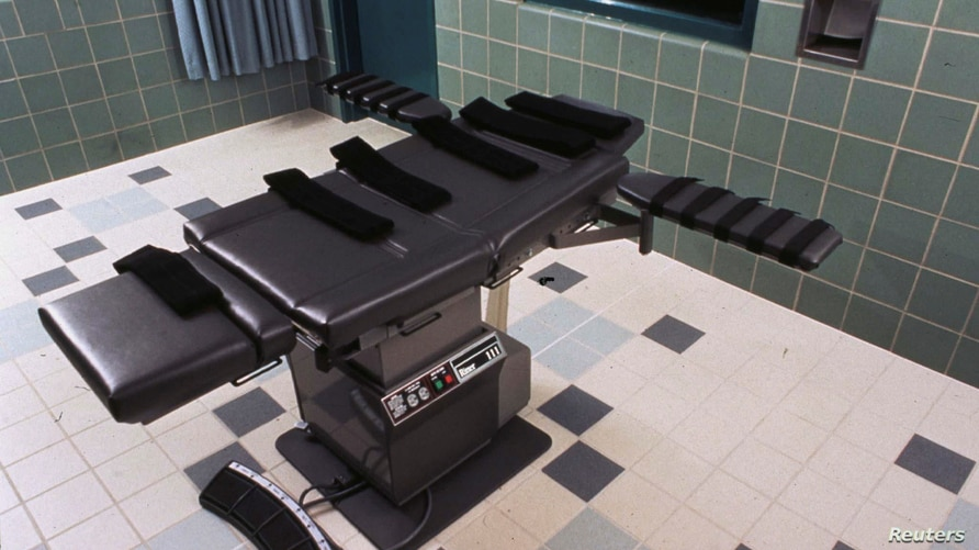 FILE - The execution chamber in the U.S. Penitentiary in Terre Haute, Indiana U.S. is shown in this undated photo.